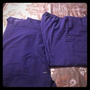 Purple scrub set